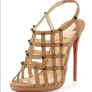 Christian louboutin Guinievre 120 Abricot sandals